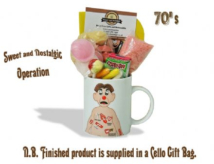 Operation Mug with/without a funny bone portion of 70's Sweeties